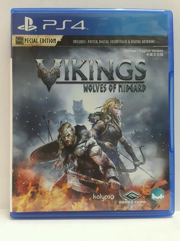 PS4 維京戰記:米德加爾特之狼 Vikings 中文版  二手 9成9新 光碟無刮痕