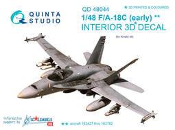 ㊣ Quinta Studio 1/48 美軍戰機 F/A-18C Kinetic 3D立體浮雕水貼 QD48044