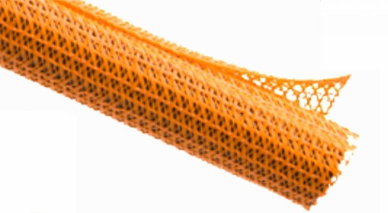 1公尺-美國Techflex F6N0.5OR (12.7mm) 捲繞式包覆編織套管(隔離網/編織網) 橘色