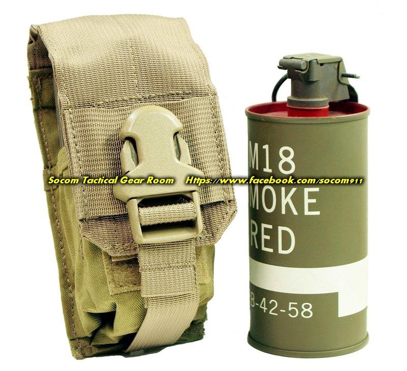 EAGLE 2010 MLCS CIRAS MBSS MOLLE v2 單連 M18 煙霧彈 震撼彈 袋 卡其色 TAN SEAL DEVGRU 採用