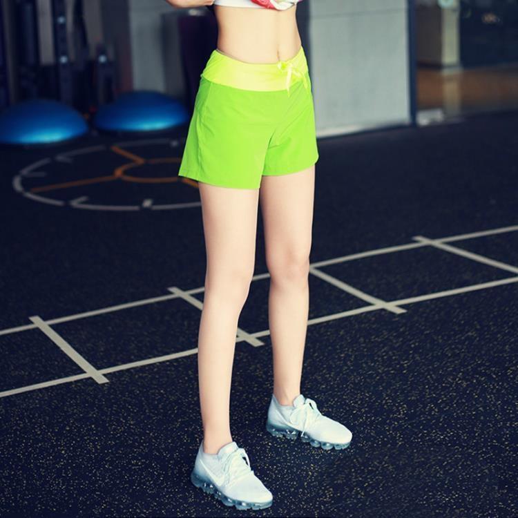 運動短褲女健身防走光外穿寬鬆速干彈力假兩件跑步褲瑜伽高腰熱褲【潮咖地帶】