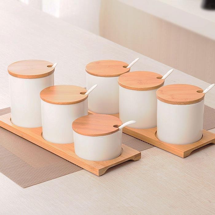 陶瓷調味罐套裝創意調味瓶套裝現代簡約調料盒廚房調料罐三件套 交換禮物