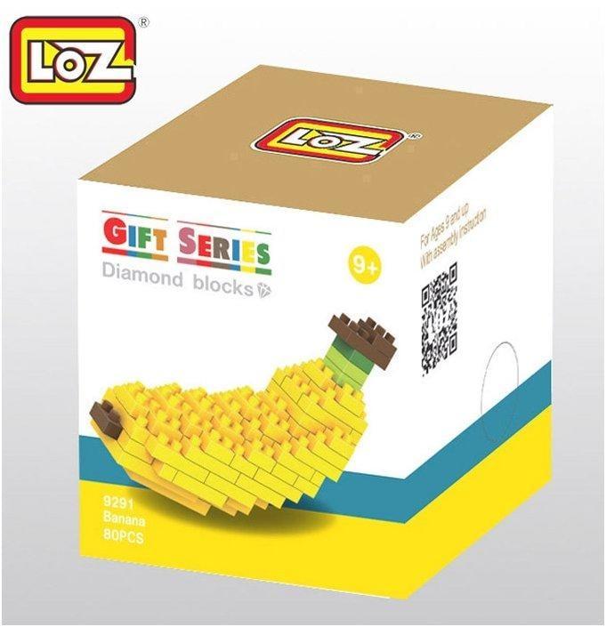 <補雞幫>拼裝積木玩具 loz 小顆粒 鑽石 樂高積木 雜色羊駝 香蕉 9291