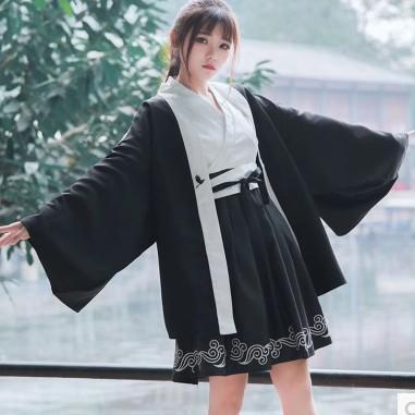 漢服仙女裝改良古裝服裝唐裝夏清新淡雅襦裙畢業照古風學生中國風