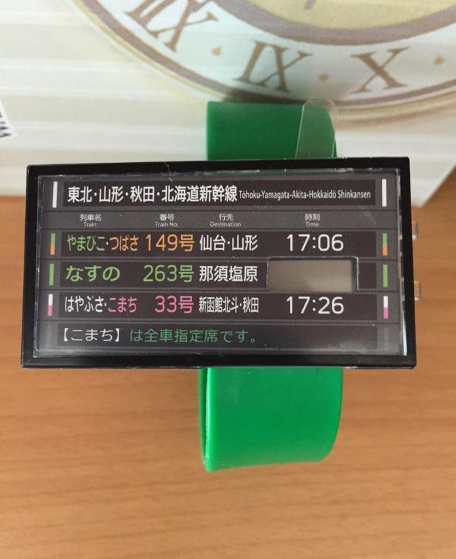 (單一零售) 日本 電車時刻手錶 新幹線&山手線篇 電車時刻看板 轉蛋 盒玩