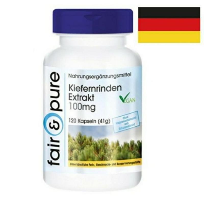 🇩🇪德國原裝進口松樹皮提取物 碧蘿芷 120粒100毫克95%原花青素