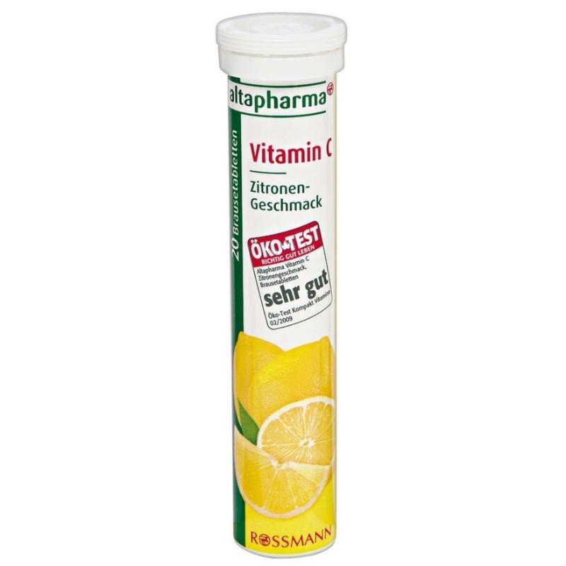 *限量特價*《德代購》德國 Rossmann altapharma 發泡錠 20入 檸檬C有效期:2020/04