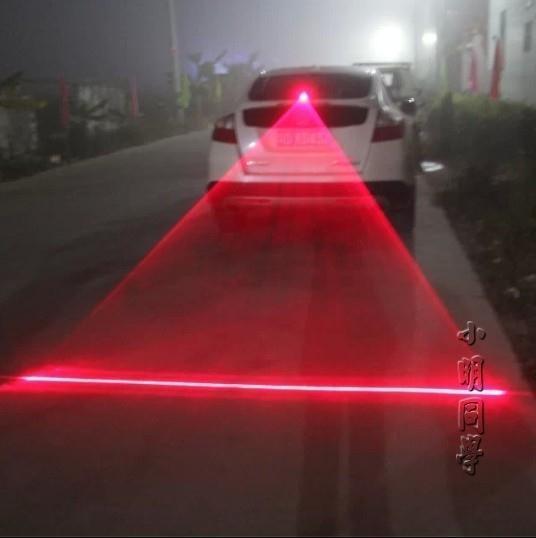 汽車用防追尾激光霧燈 車載LED改裝投影燈射燈 防撞警示燈裝飾燈