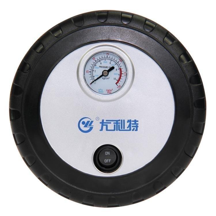尤利特迷你電動汽車輪胎充氣泵便攜式車載打氣泵大功率車用打氣筒