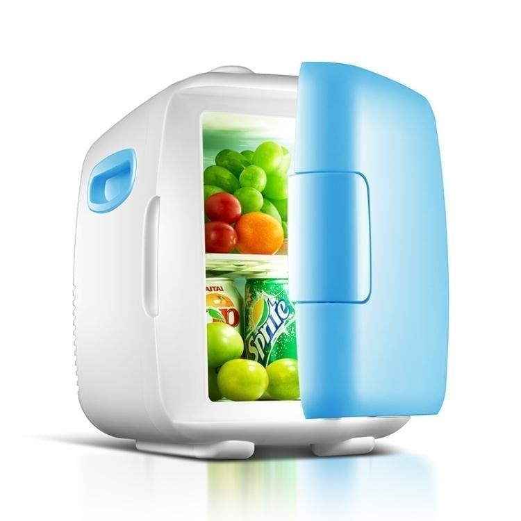 奧天普4L車家兩用宿舍迷你小冰箱小型家用制冷車載冰箱學生冷暖箱