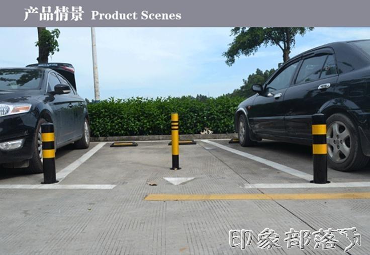 車位鎖地鎖加厚擋車立柱樁防撞活動路樁帶鎖警示柱汽車占位隔離樁