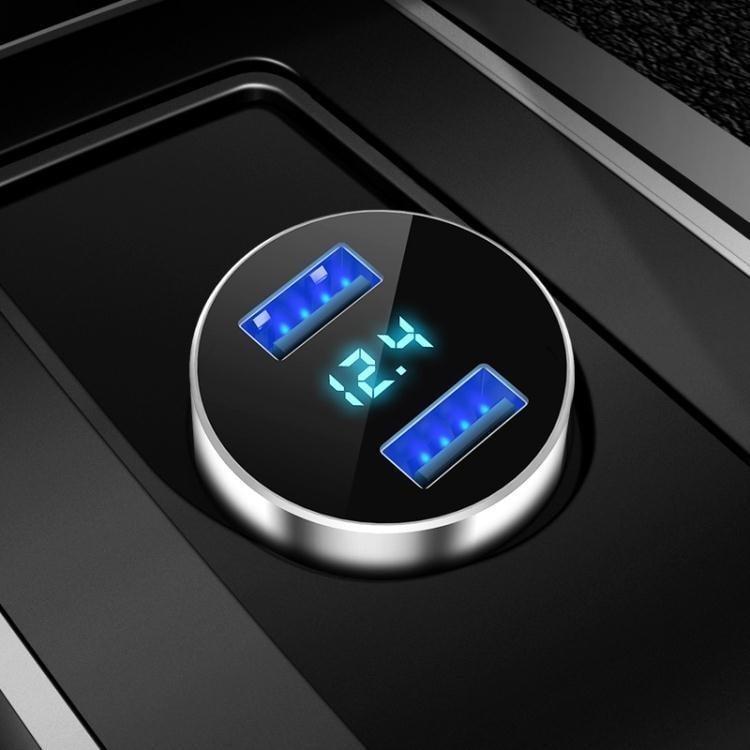 現代車載充電器汽車車充一拖二點煙器插頭usb車用多功能手機快充  『』