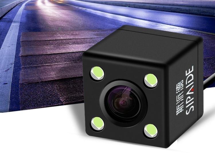 汽車倒車攝像頭高清夜視倒車影像後視攝像頭LED燈車載通用