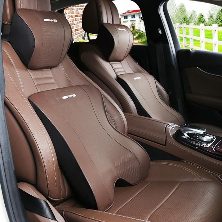 奔馳新C級E級S級汽車用品 邁巴赫頭枕記憶棉腰靠內飾靠墊護頸枕