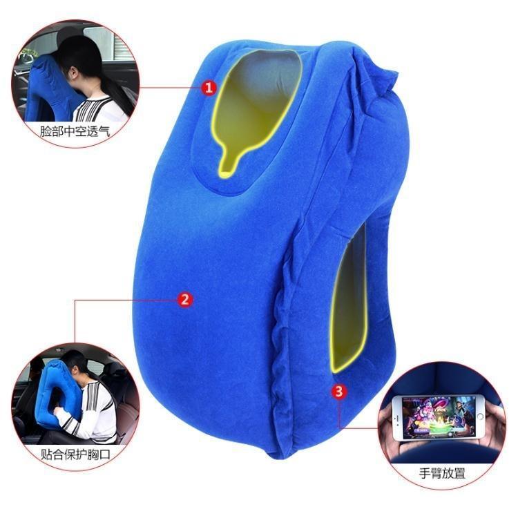長途飛機旅行枕護頸枕充氣U型枕便攜u形抱枕高鐵睡覺靠枕頭趴睡枕