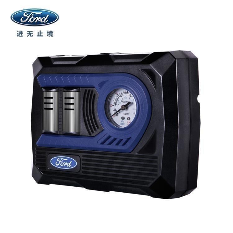 福特汽車車載充氣泵數顯智慧預設胎壓打氣泵12V便攜式充氣機 igo