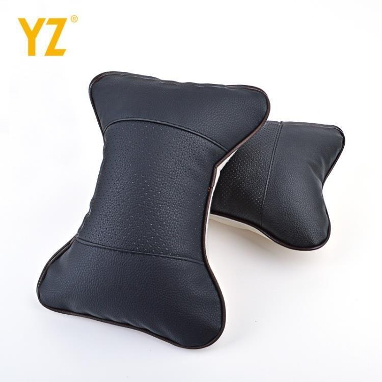 汽車頭枕一對護頸枕骨頭枕頭靠枕靠車內飾頸椎車用枕頭脖子頸部