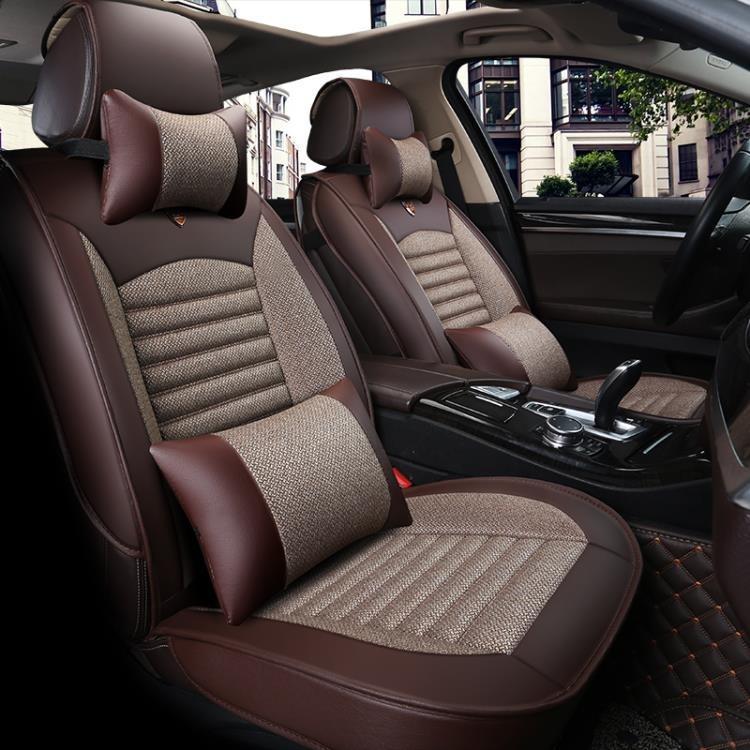 汽車座套皮革布藝全包圍小車專用座椅套四通用汽車坐墊