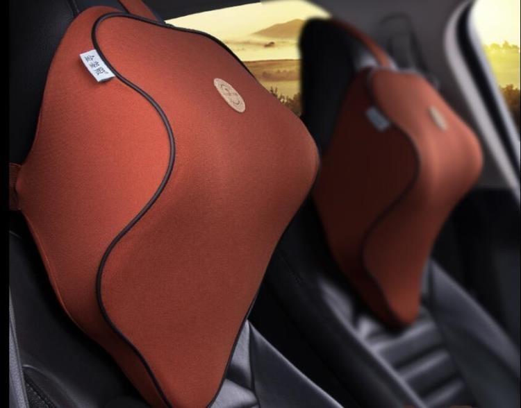 汽車頭枕座椅護頸枕車用記憶棉頸椎枕車載四季靠枕後排枕頭透氣夏