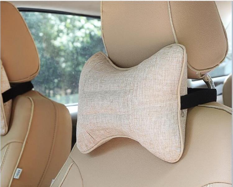 汽車頭枕護頸枕車用靠枕一對決明子四季車枕骨頭枕夏季脖子枕頭