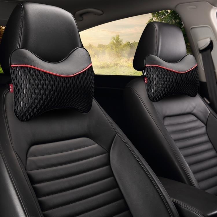 汽車頭枕護頸枕一對車用枕頭車載頸椎枕靠枕夏季冰絲皮革四季通用