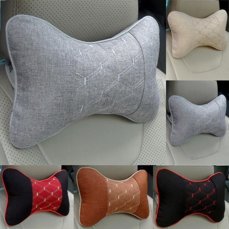 夏季冰絲汽車頭枕護頸枕一對四季座椅靠枕車載脖子頸椎枕車用靠墊