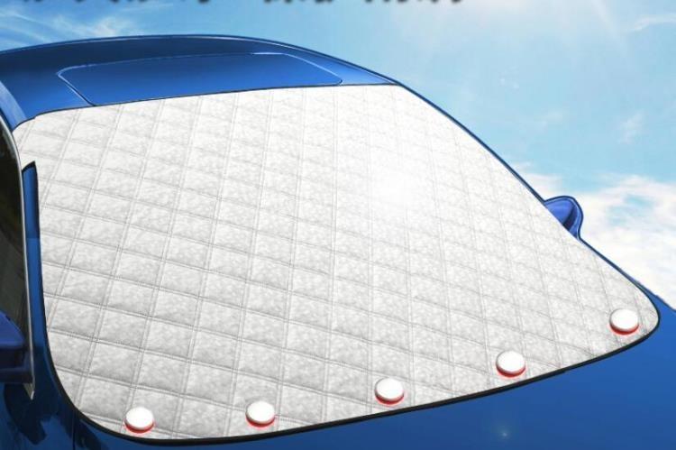 汽車遮陽板遮陽擋遮雪擋防霜布前擋玻璃太陽擋夏季防曬隔熱遮陽簾igo