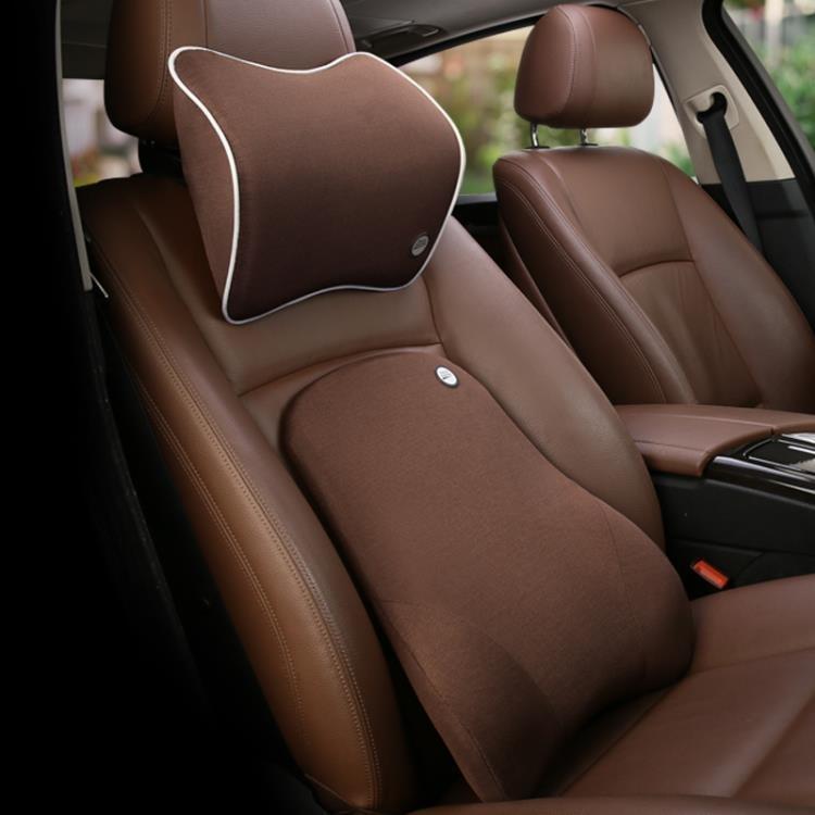 汽車頭枕靠套裝夏季小車用腰靠墊護腰枕頭靠枕轎車座椅腰墊護頸枕