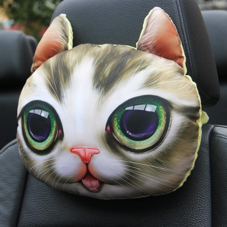 車載枕頭 3D哈士奇