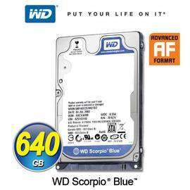 良品WD 2.5吋WD 2.5吋 640GB 640G WD6400BPVT-22HXZT1