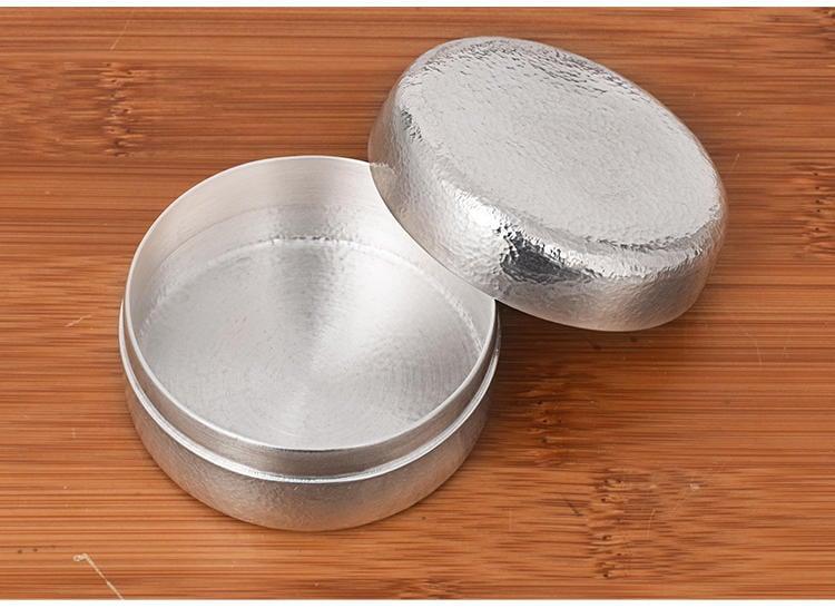 【 大 圓盒子 純銀999】純手工製作 足銀 茶葉罐 收納盒 珠寶盒 終生保真 皇家典藏