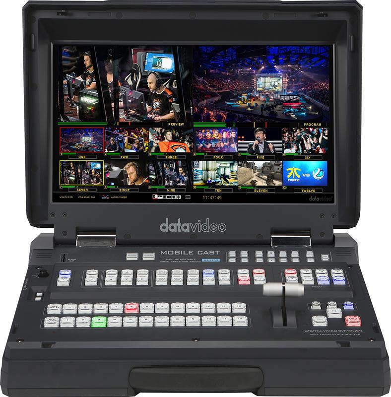 【環球影視】Datavideo 洋銘科技 HS-3200 HD 12通道手提式移動錄播導播室