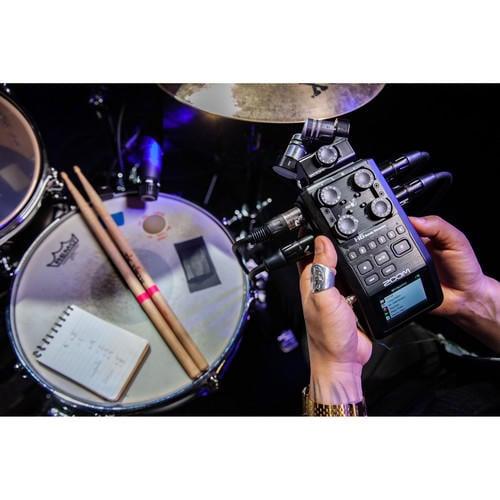 環球影視-ZOOM H6 BLACK 6軌錄音器 專業錄音設備 可換式MIC頭 24bit/96kHz