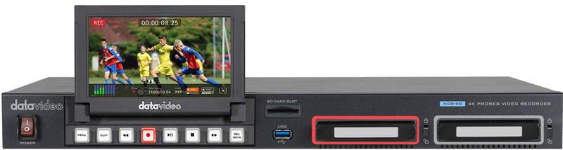 環球影視-Datavideo HDR-90 洋銘科技 4K ProRes 雙硬碟錄影機-機架型