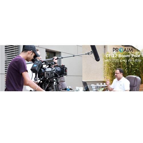 【環球影視】PROAIM™ 12ft 碳纖維麥克風收音桿 含20ft XLR 音源線!專業熱銷款