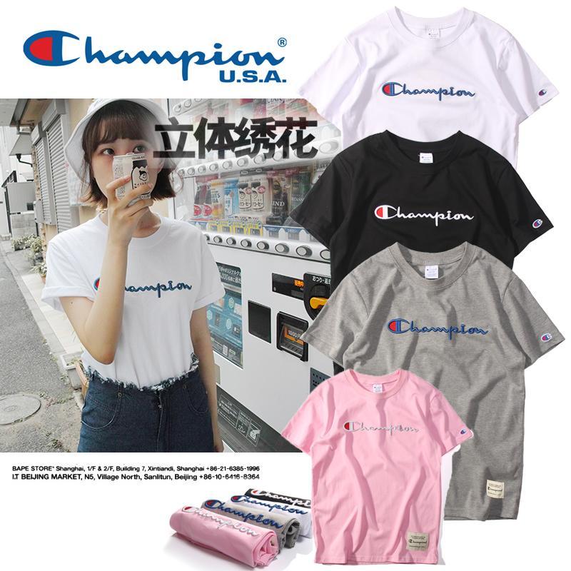 【Free shop】champion 814 冠軍代購正品 經典款刺繡 圓領短袖T恤 5件包郵