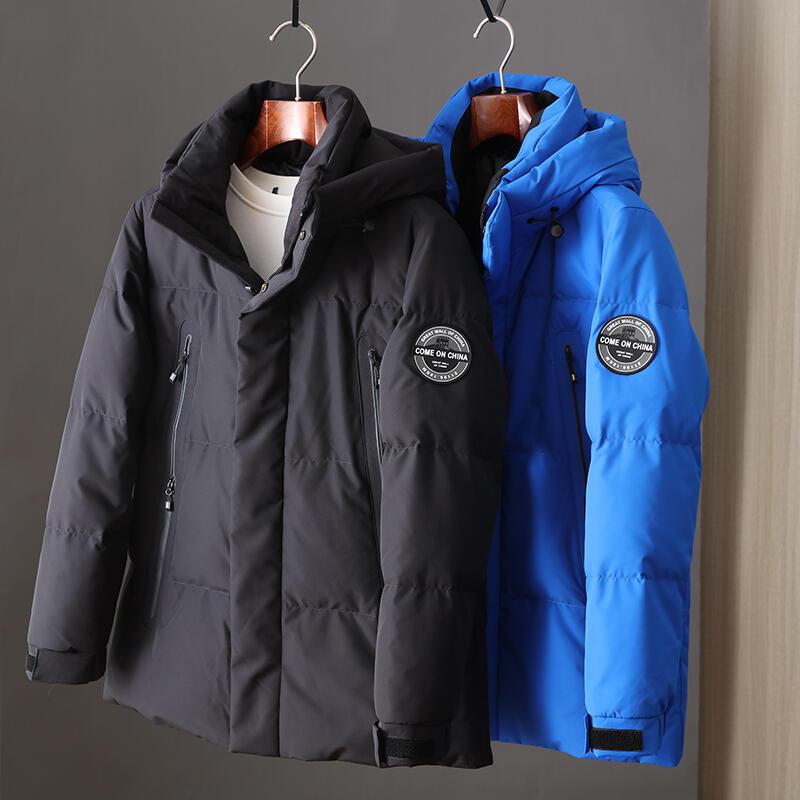 品質保證90白鴨絨,高蓬松防寒抗風羽絨服,線下1000+中長款連帽保暖外套