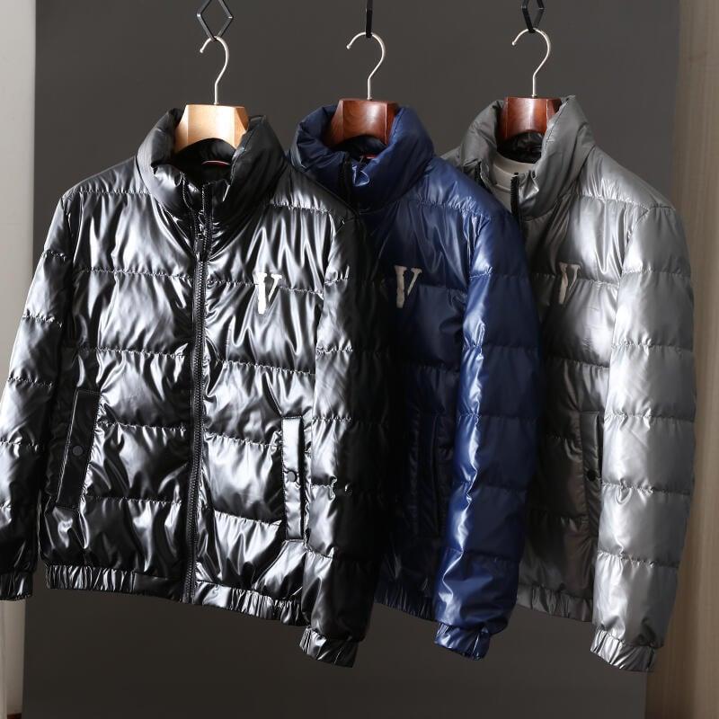 品質保證韓版時尚帥氣亮面防水短款立領90%白鴨絨保暖冬外套男青年羽絨服