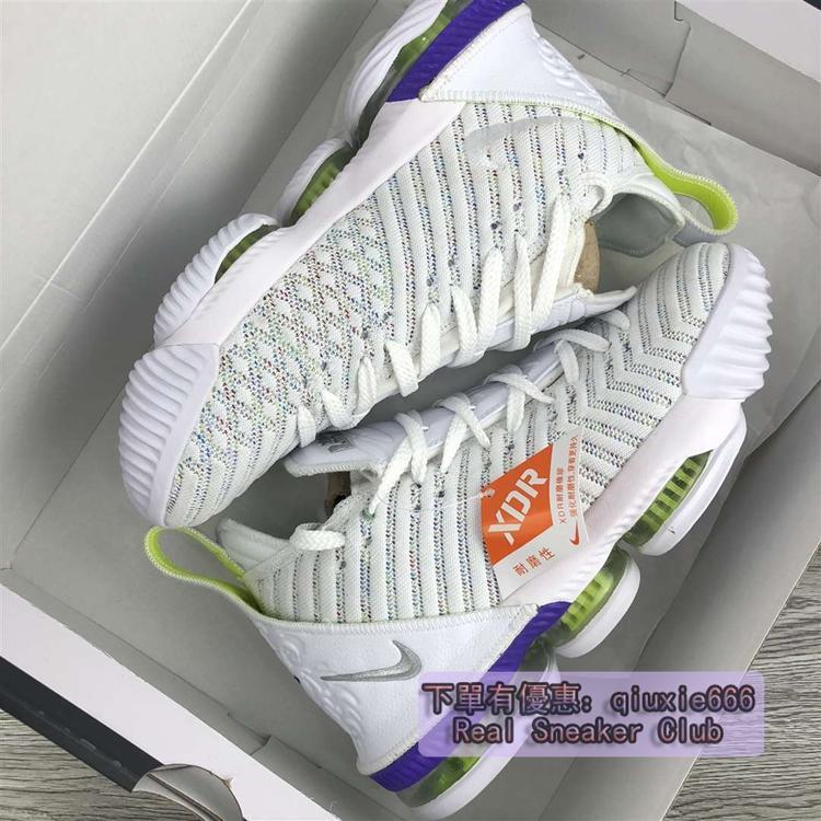 Nike LeBron 16 Buzz Lightyear LBJ16 巴斯光年 白綠 編織 籃球鞋AO2595-102