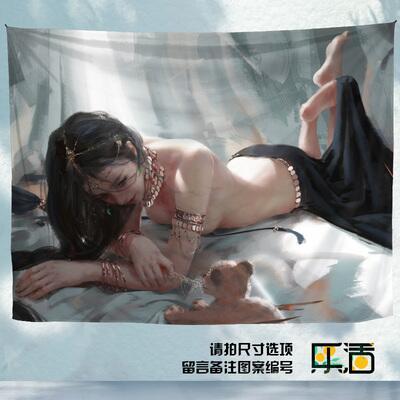 掛毯 鬼刀掛布背景布動漫二次元國潮國風背景墻掛布裝飾布宿舍裝飾壁毯【時光軌跡】