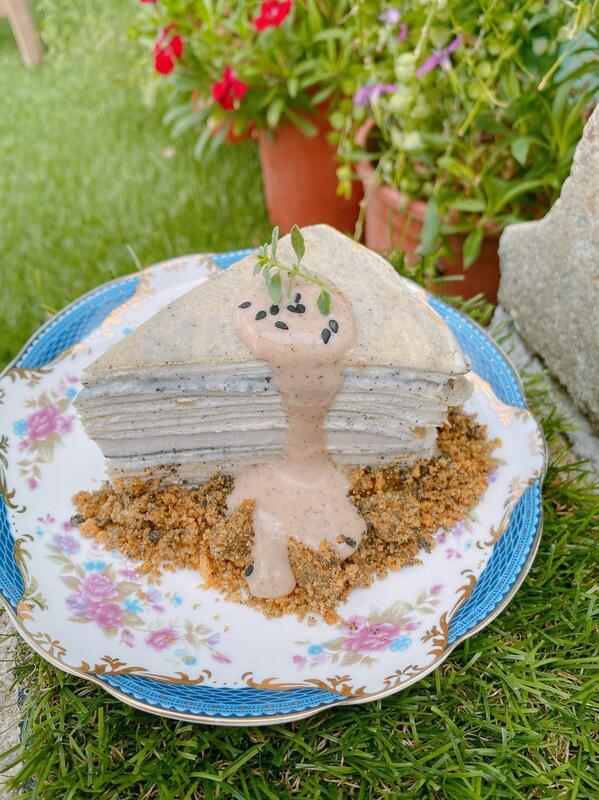 爍咖啡 ''土石流''  芝麻伯爵千層蛋糕 6/8吋 甜點 生日蛋糕 慶生 客製化