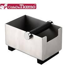 CafeDeTiamo 新款長方型不鏽鋼咖啡集渣桶 BC2404 爍咖啡 義式咖啡專用吧檯必備