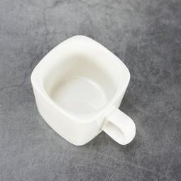 原點居家創意 白色陶瓷小方杯 100cc