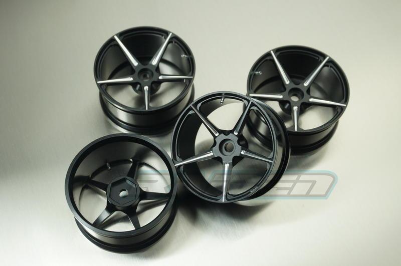 1/10 1.9吋 鋁合金攀岩車平跑超跑粘胎改裝輪轂 SCX10 TAMIYA TT02 TT01 TR-4 G500