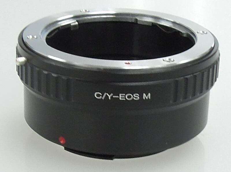 康泰時 Contax Yashica CY C/Y鏡頭轉佳能Canon EOS M EF-M相機身轉接環 KIPON同功