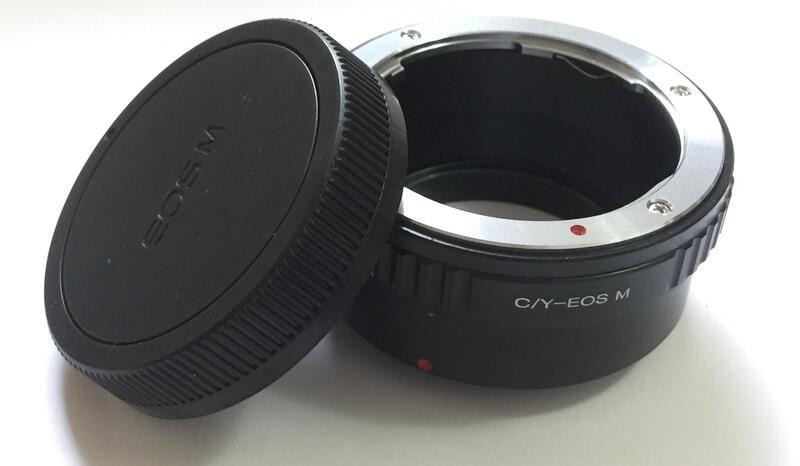 後蓋 Contax Yashica CY C/Y鏡頭轉佳能Canon EOS M EF-M相機身轉接環C/Y-EOS M