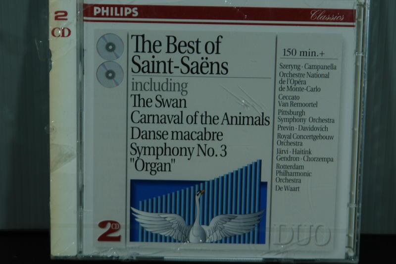 卡米爾·聖桑 作品《天鵝》《動物狂歡節》《骷髏之舞》《第三交響曲》2CD
