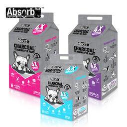 【Absorb Plus】狠消臭寵物尿布墊-活性碳(25入/50入/100入)