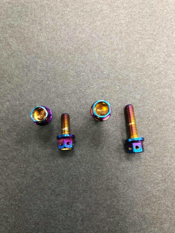 POSH 白鐵鍍鈦螺絲 外六角M4系列 M4x15/油缸蓋螺絲