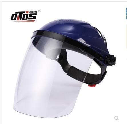 新品上新 透明電焊工防護面罩護全臉部防飛濺防沖擊電焊打藥面屏護眼護目鏡